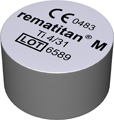 rematitan® M casting metal, Grade 4, Weight casting ingots 31 g, Height ingots 14.3 mm